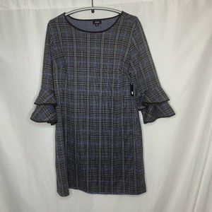Tacera Shift Dress Ruffle Sleeves Womens Size 2X